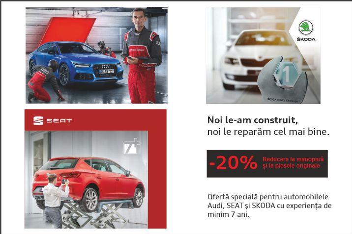 Oferta speciala pentru automobilel cu experienta de minim 7ani.